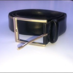 Ike Behar Accessories - Ike Behar New York leather belt black 42